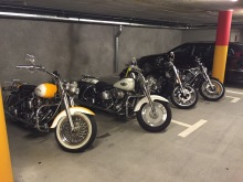 Hotel-Parking an Swiss Harley-Days in Lugano