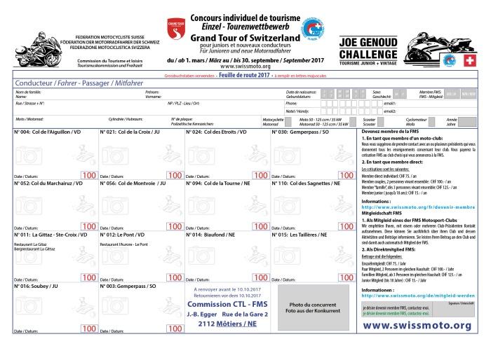 Rückseite Joe Genoud Challenge