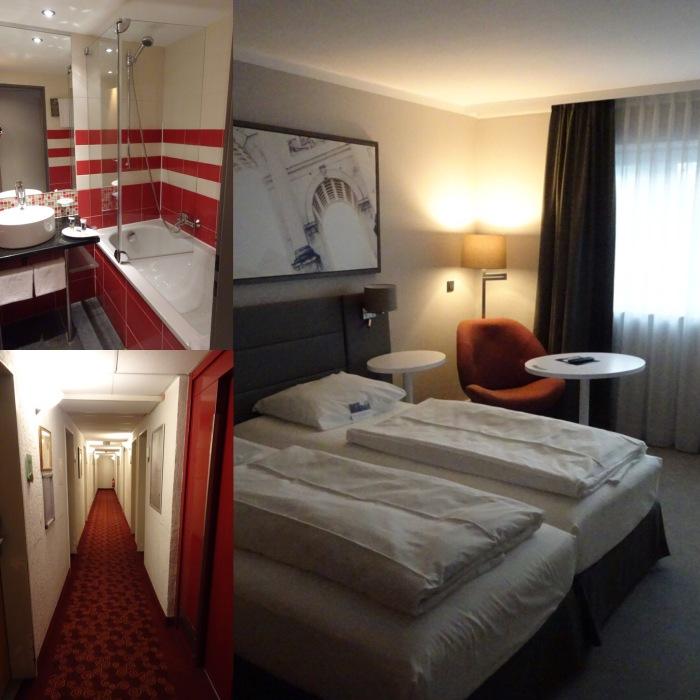 Zimmer und Bad entsprechen dem Standard, die Korridore könnten einen neuen Anstrich vertragen