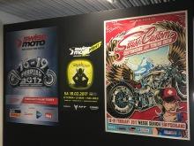 Plakate zur Swiss-Moto und der Swiss-Custom-Show 2017 in der Messe Zürich, Schweiz
