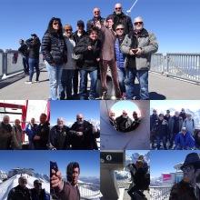 Collage des Ausfluges der FMS Tourismuskommission aufs Schilthorn