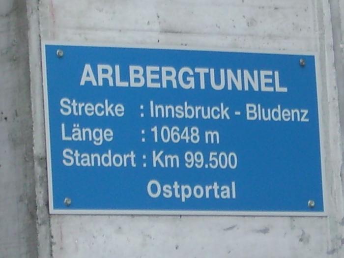 Arlberg Schild Ostportal