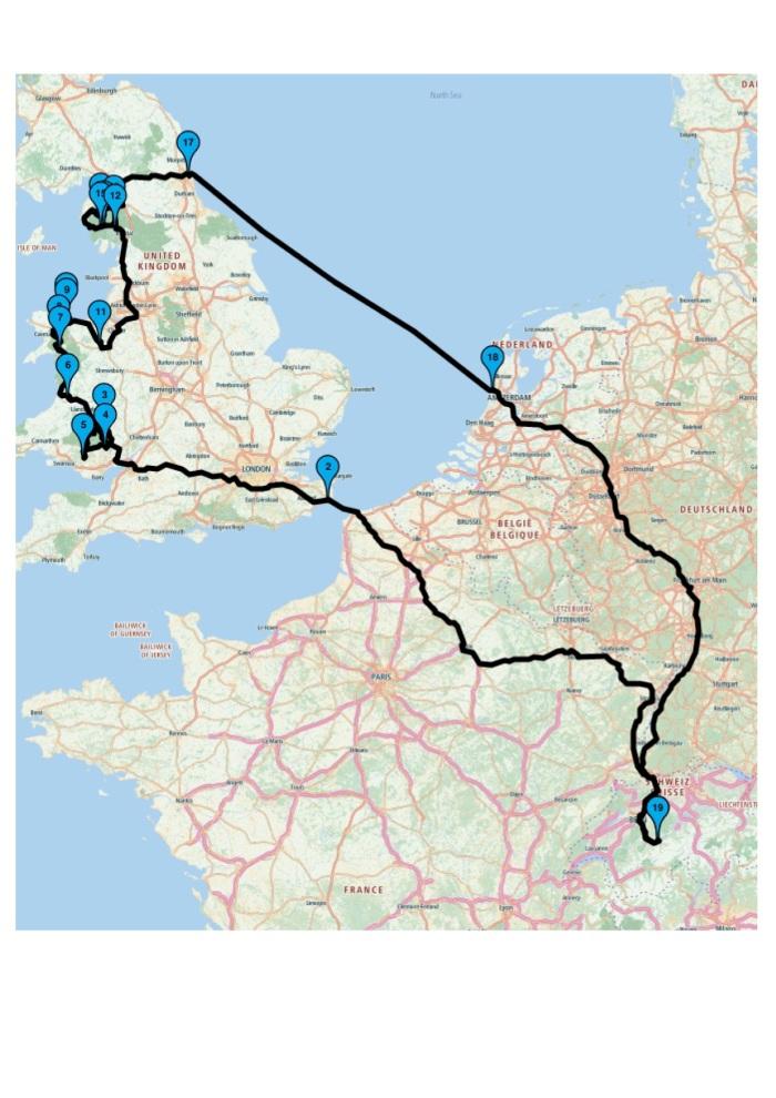 Grossbritannien-Rundtour