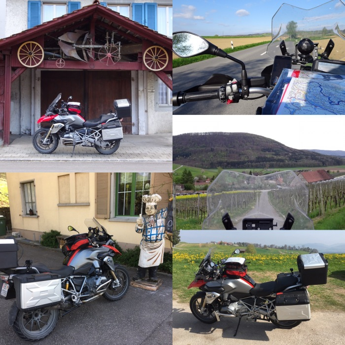 On a BMW R 1200 GS through the estern part of Switzerland called Ostschweiz