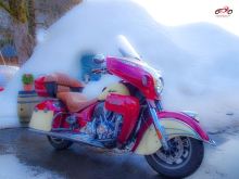 Indian Roadmaster im Winter